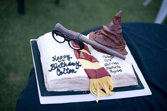 This amazing Harry Potter themed spell-book cake will impress muggles and guests alike.