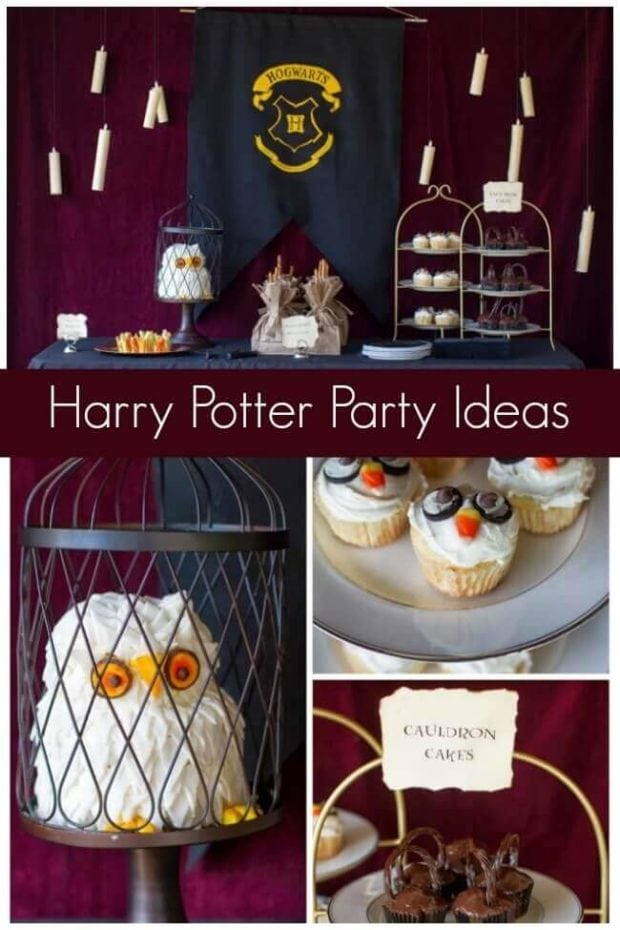 This Harry Potter Birthday Party featured a delightful dessert table, incorporating several ideas!