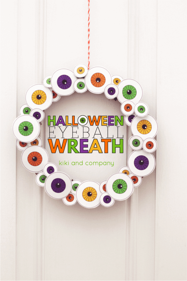 Printable Eyeball Wreath