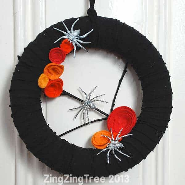 Upcycled Halloween Wreath