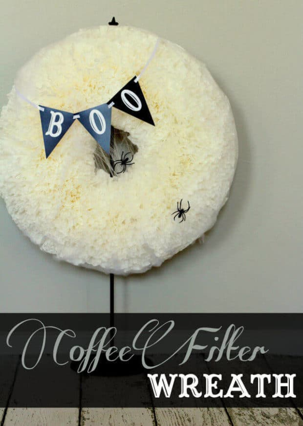 Halloween Coffee Filter Wreath