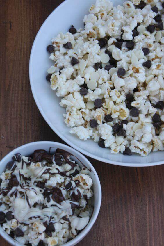 Black and White Popcorn recipes