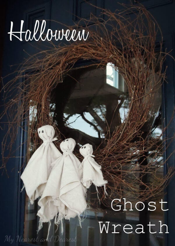 Ghost Halloween Wreath