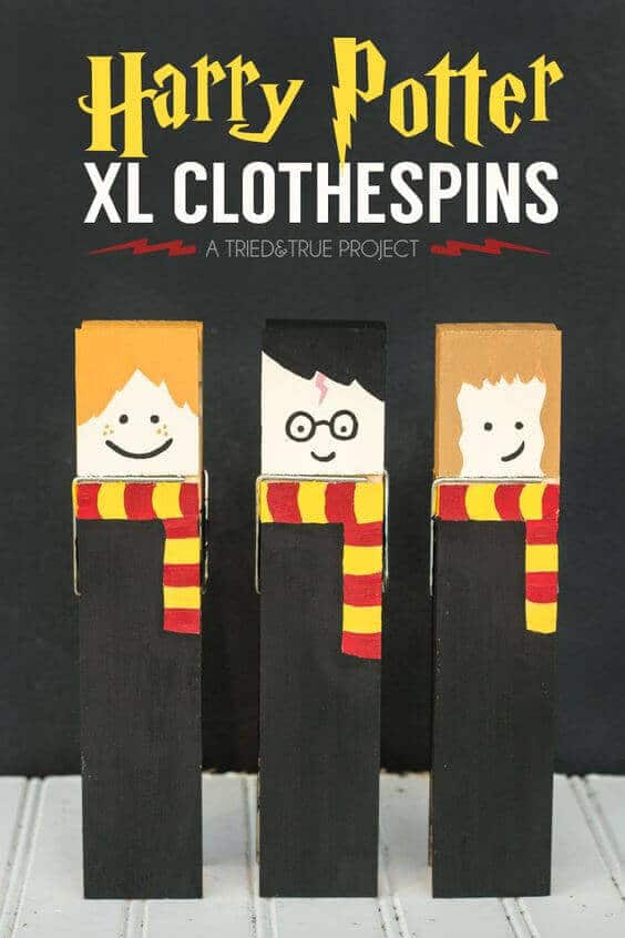 These cute Harry Potter clothes pins make great party favors.