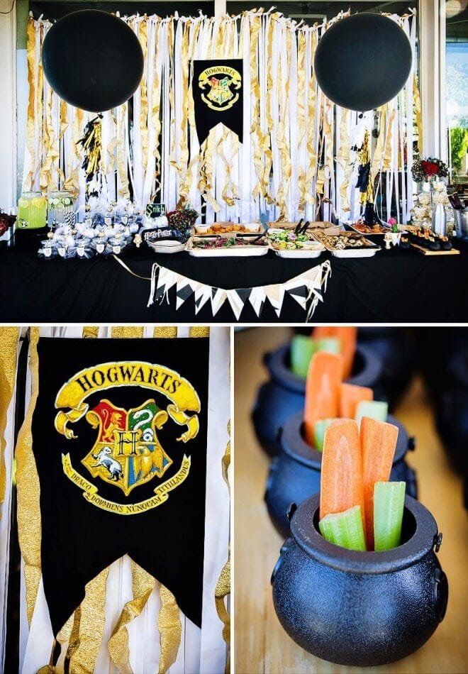 The Hogwarts dessert table at this magical Harry Potter Party will cast a spell on you.