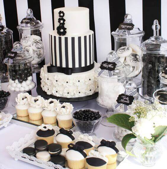 Elegant black and white party