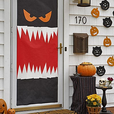monster halloween door decorations - Halloween Door Decorating Ideas
