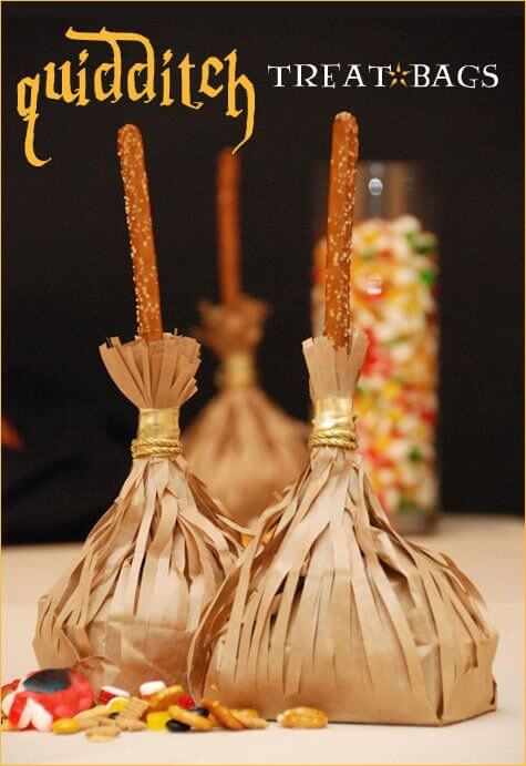 These Quidditch-themed treat bags will sweep guests off their feet at your Harry Potter party.