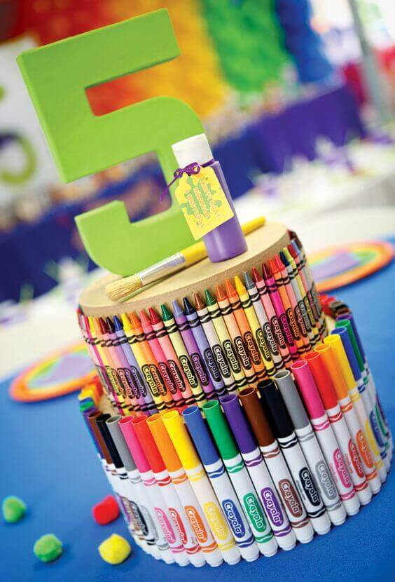 Crayola Art Party Centerpieces