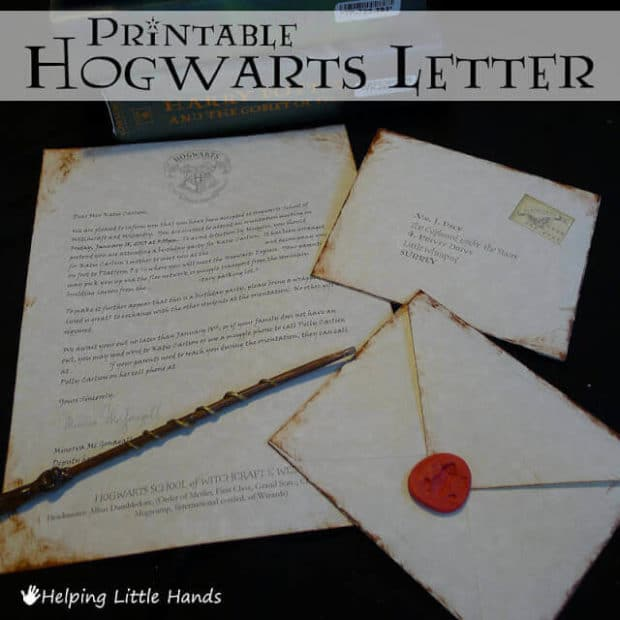 Invite guests to join you at your Harry Potter party by sending them a Hogwarts acceptance letter!