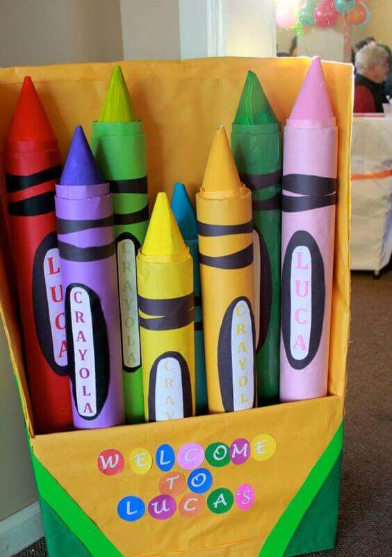 Crayon Photo booth Back Drop