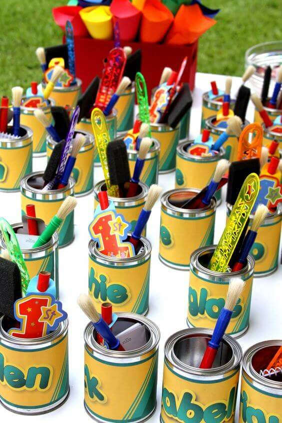 Crayola Art Favor Buckets