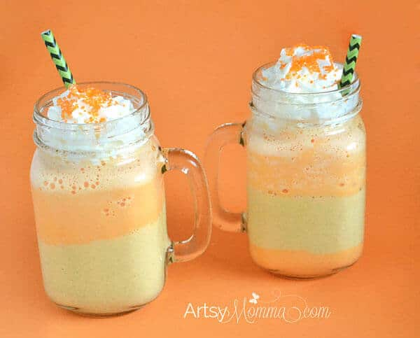Layerd Candy Corn Shake
