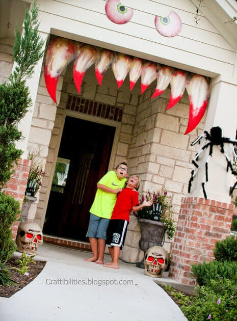 Monster Teeth Halloween Door Decorations