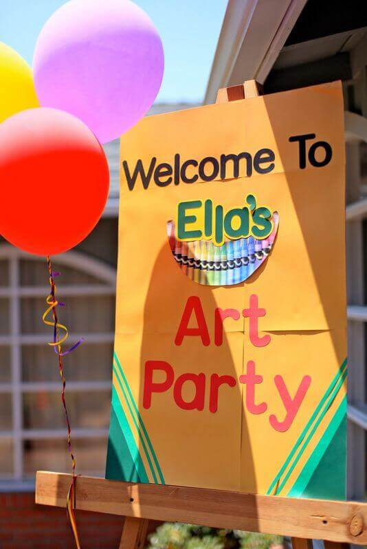 Crayola Crayon Party Welcome Sign