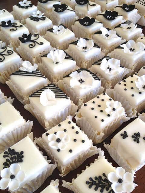 Black and White Petit Fours