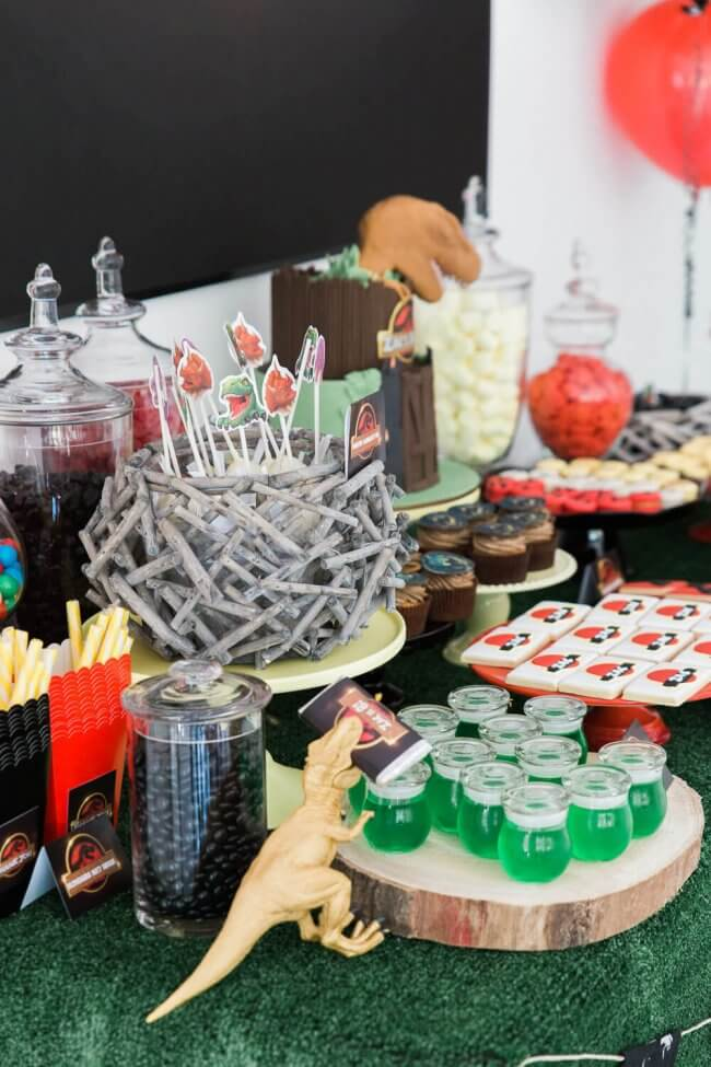 Boys Jurassic Park Themed Party Food