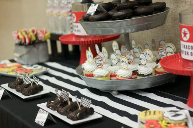 Boys Racing Party Dessert Table Ideas