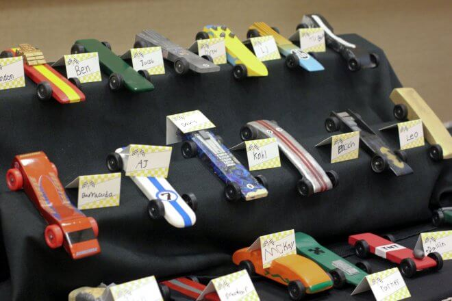 Boys Racing Party Pinewood Derby Cars