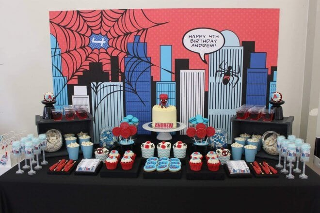 Boys Spiderman Themed Birthday Party