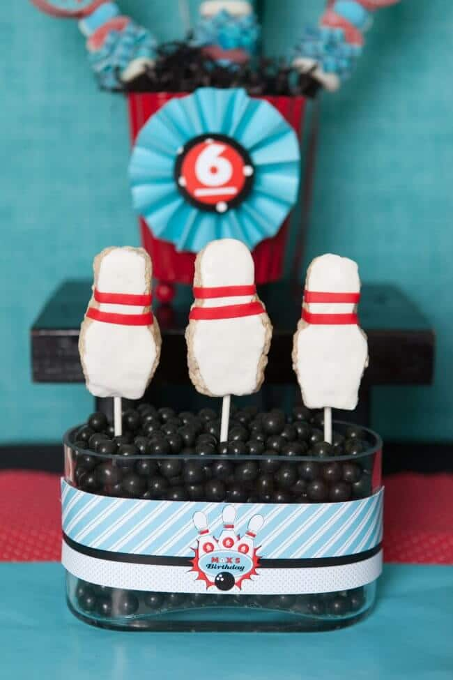 Boys Bowling Themed Birthday Party Food Party Food Ideas