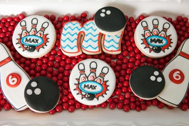 Boys Bowling Themed Birthday Party Food Cookie Ideas