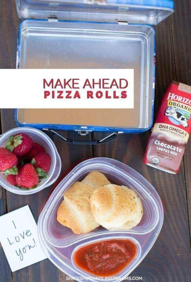 Make ahead pizza rolls