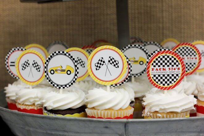 Pinewood Derby Party Food Cupcakes