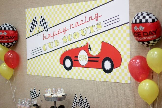 Pinewood Derby Racecar Backdrop