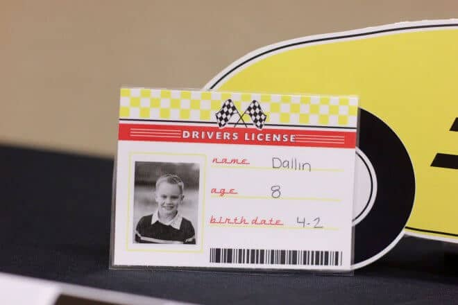Pinewood Derby Racecar Information Cards