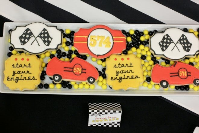 Pinewood Derby Racecar Party Food Cookies