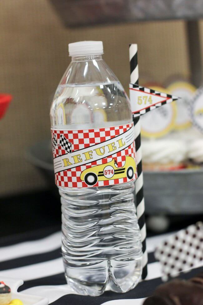 Pinewood Derby Racecar Water Bottle Drink Ideas