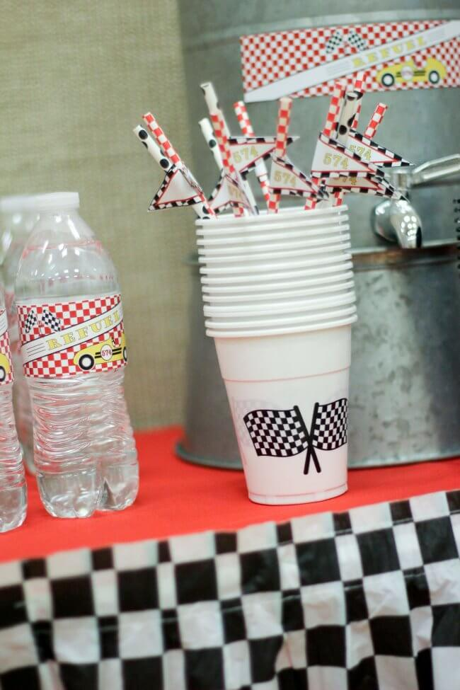Racecar Themed Vintage Racecar Drink station ideas