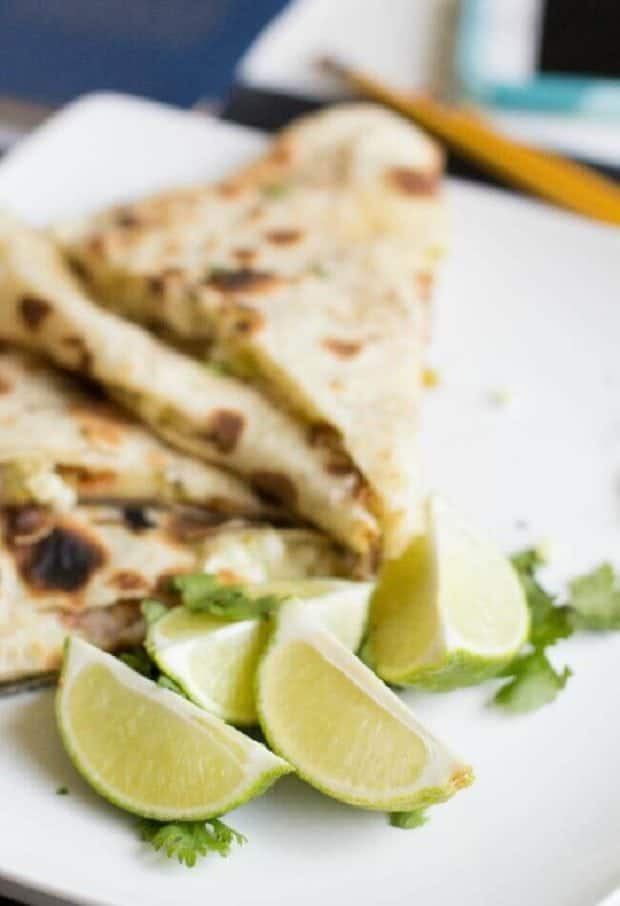 Roasted Corn & Green Chile with Bacon Quesadilla Recipe