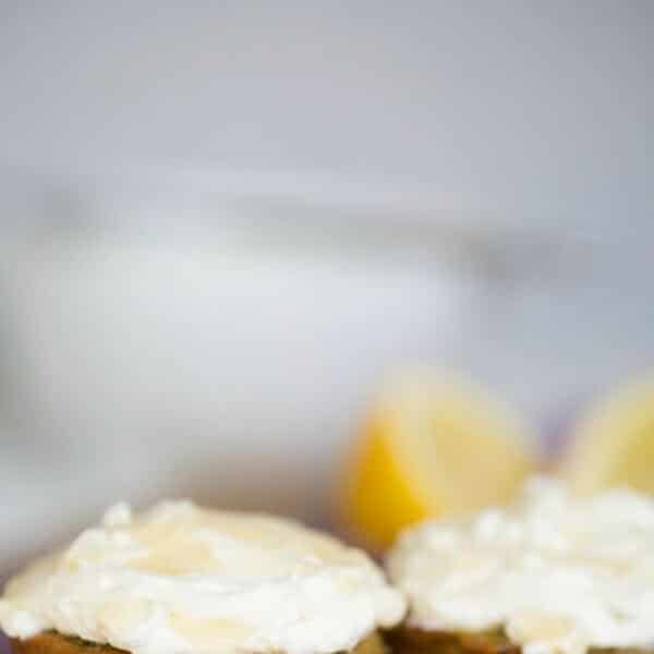 Blueberry Yogurt Cookies With Lemon Cream Cheese Frosting Recipe ...