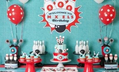 Retro Bowling Birthday
