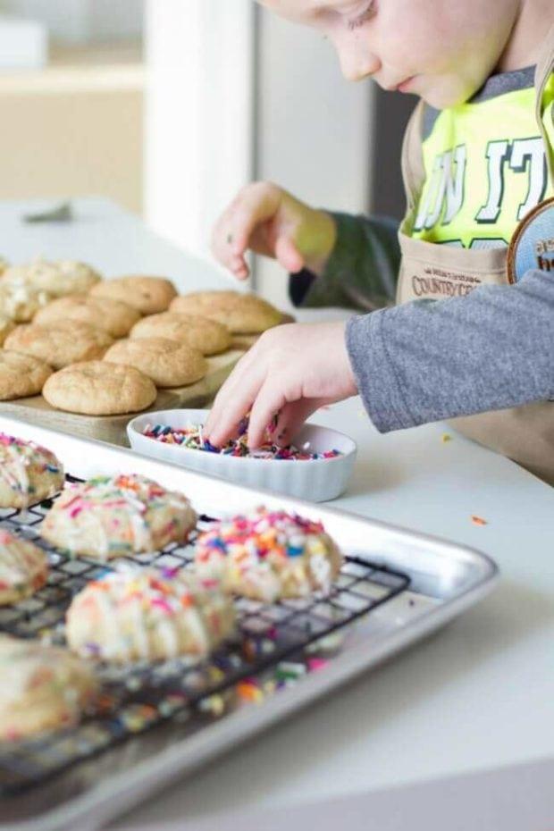 Sprinkles on Cookies