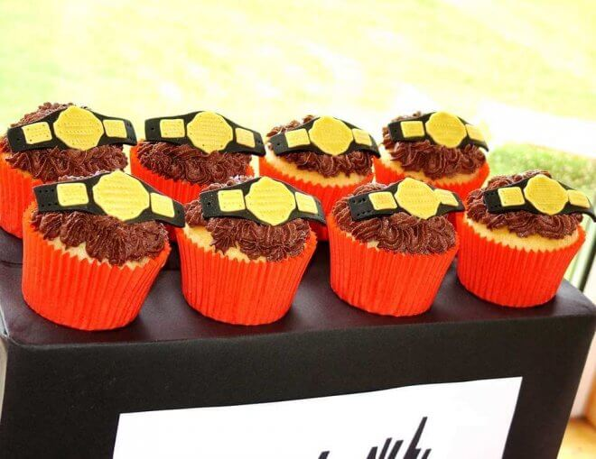 WWE Wrestling Belt Cupcakes