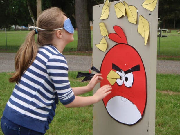 Angry Birds Pin the Beak On Game