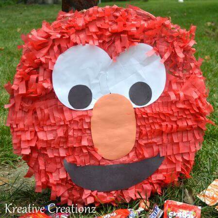 21 fabulous elmo birthday party ideas spaceships and laser beams diy elmo pinata solutioingenieria Image collections