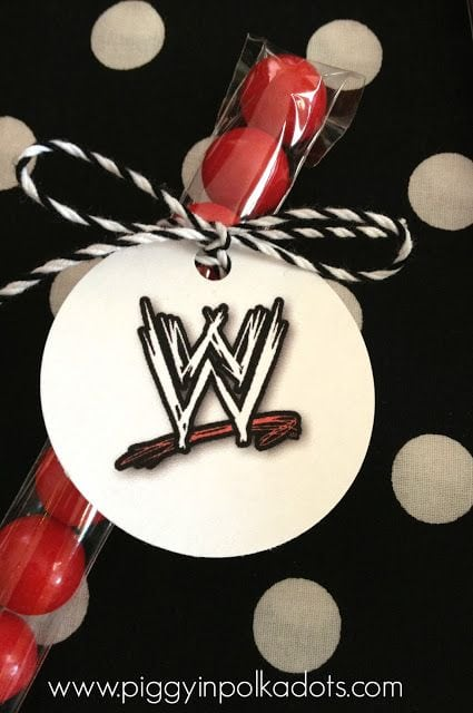 WWE Gumball Party Favor
