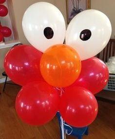 Elmo Birthday Party Balloons