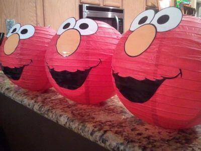 21 fabulous elmo birthday party ideas spaceships and laser beams elmo paper lanterns solutioingenieria Image collections
