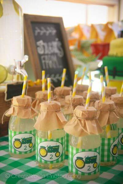 Tractor Birthday Party Lemonade Drink Ideas