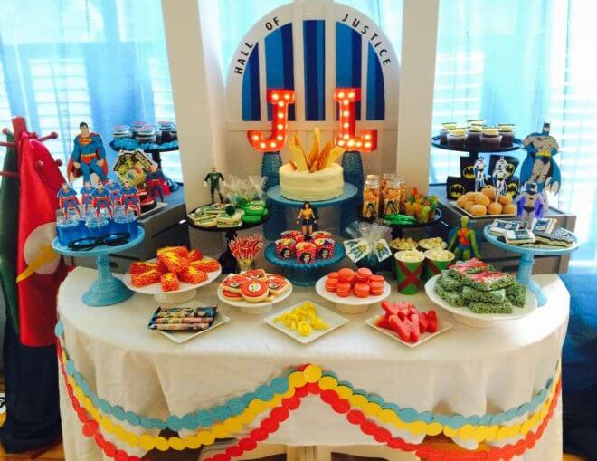 Justice League Dessert Table