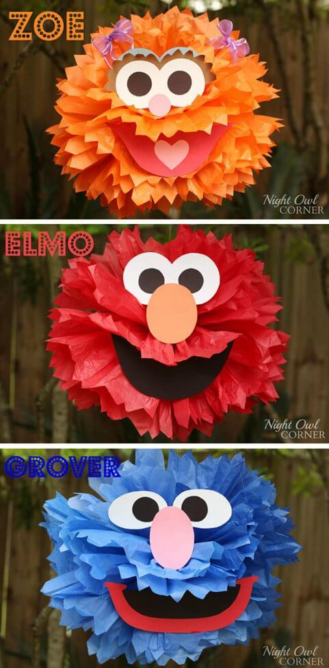 Elmo Tissue Paper Ball