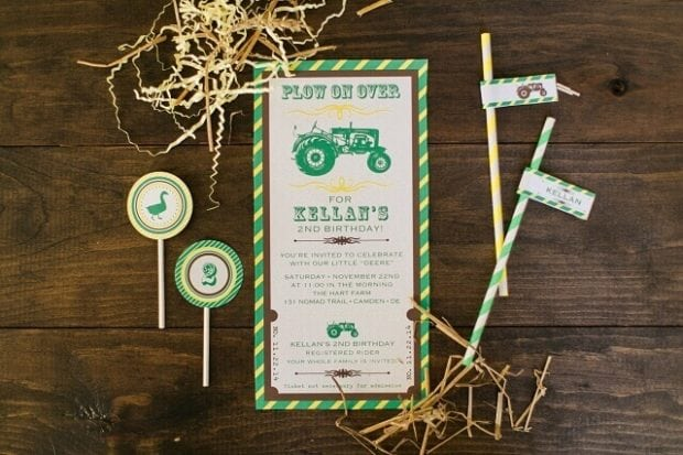 John Deere Tractor Party Invitations