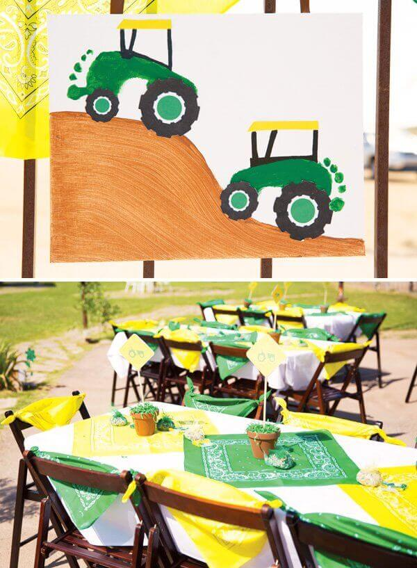 DIY Footprint Tractor Craft