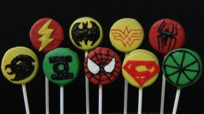 Justice League Cookie Pops