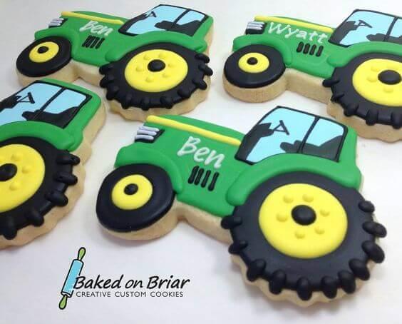 John Deere Tractor Cookies